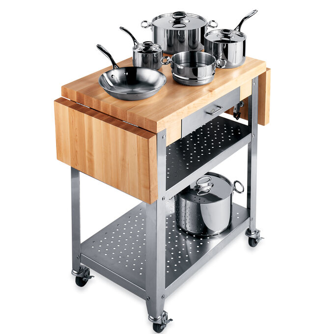 "John Boos & Co. Cucina Cart, Two Drop Leaves, 50"" x 20"""