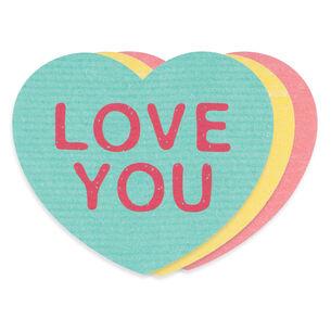 Valentine's Day Dishcloth, Set of 3