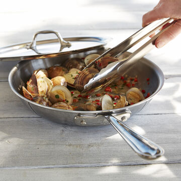 All-Clad d3 Stainless-Steel Skillet with Lid