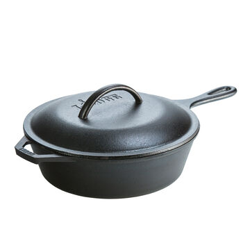 Lodge Cast Iron Deep Skillet with Lid