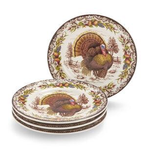 Turkey Bread Plates, Set of 4