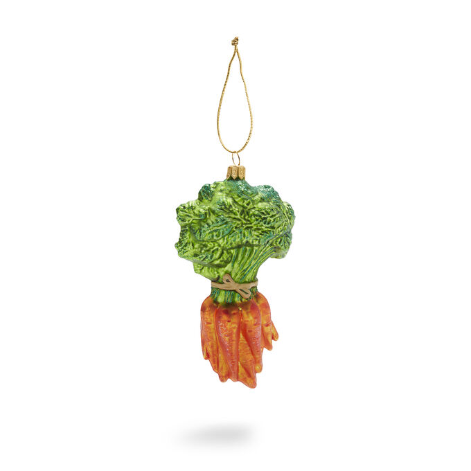 Bunch of Carrots Glass Ornament