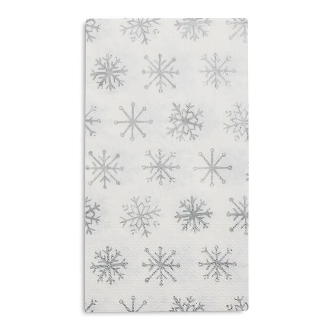 Snowflake Paper Guest Napkins, Set of 20