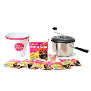 Stainless Steel Sweet & Easy Snack Machine Kettle Corn Popping Set