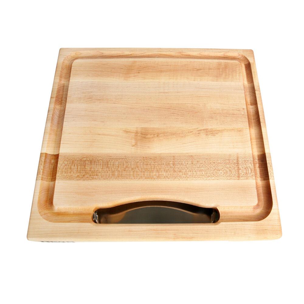 John Boos & Co. Edge-Grain Rectangular Maple Cutting Board with Insert