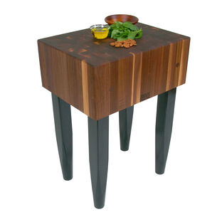 John Boos Walnut Butcher-Block Table