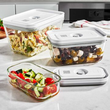 Zwilling Fresh & Save Tall Glass Vacuum Container, Set of 3
