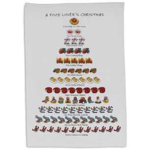 The Food Lover's 12 Days of Christmas Flour-Sack Towel