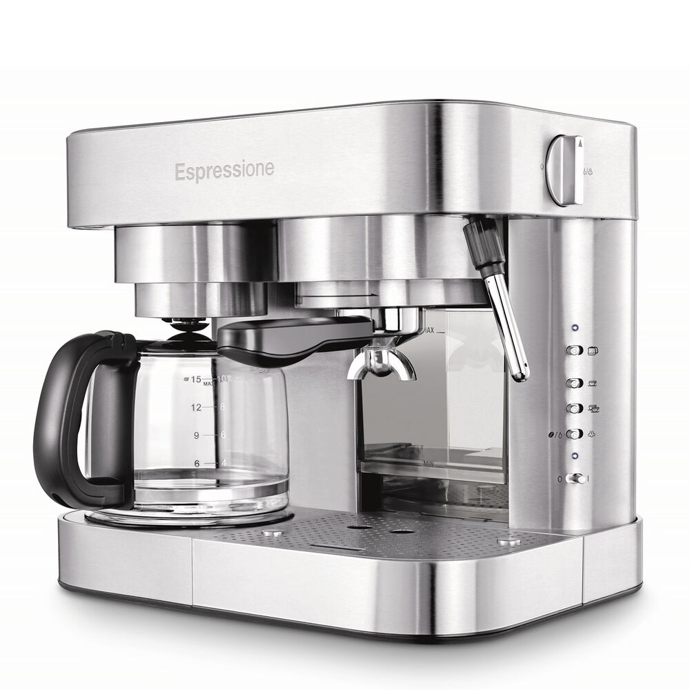 Espressione EM-1040 Combination Espresso Machine and Coffee Maker, 10 cup