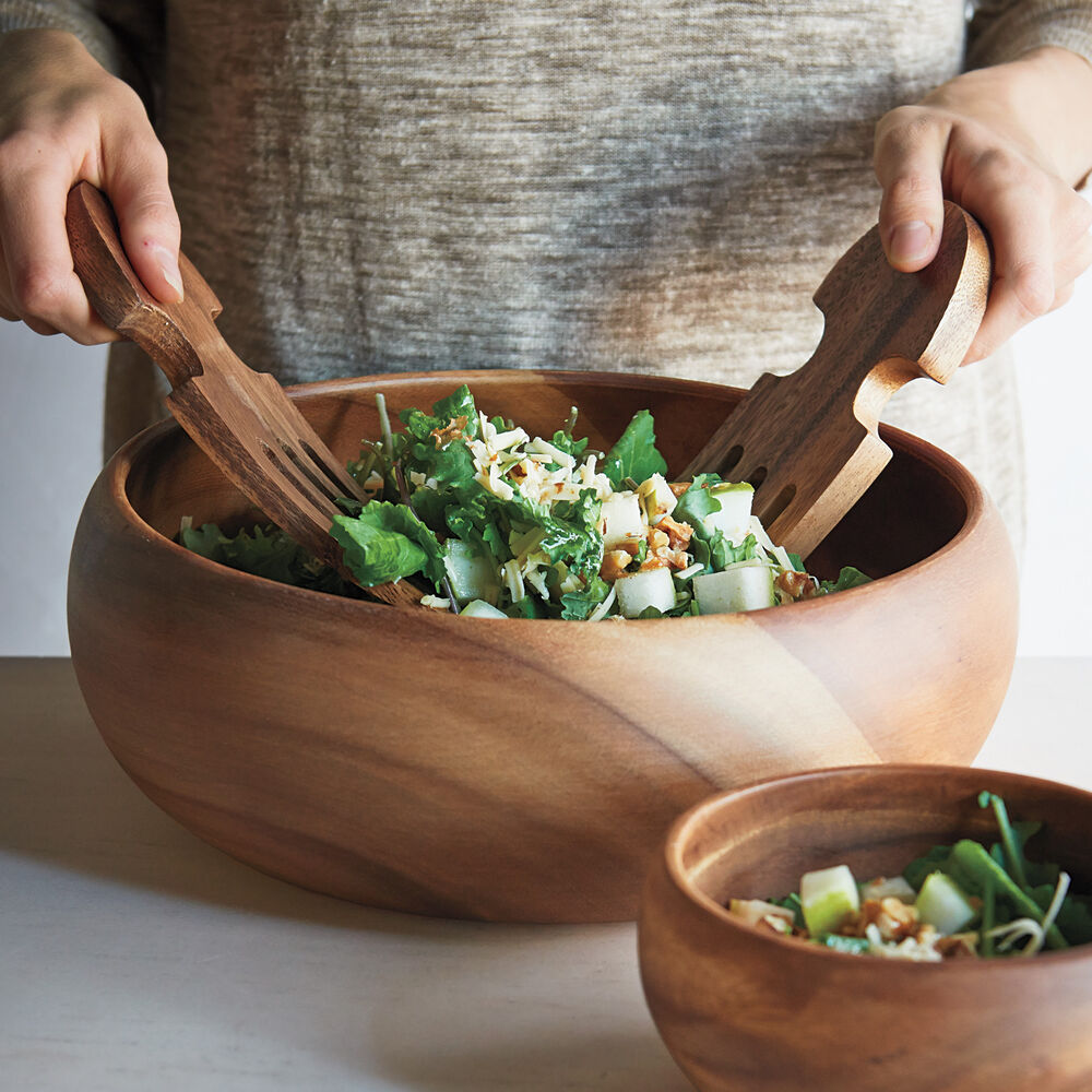 Acacia Wood Serving Bowl