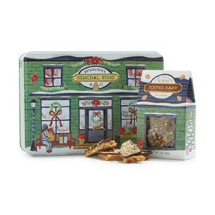 Dark Chocolate Almond Toffee Bark Squares