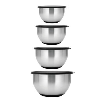 Berghoff Stainless Steel Mixing Bowls with Lids, Set of 8
