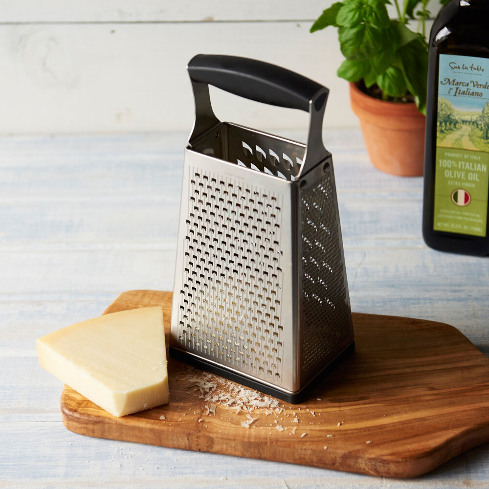 Cuisipro 4-Sided Box Grater with Ginger Grater Base