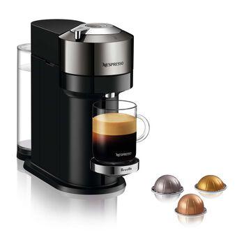 Nespresso Vertuo Next Deluxe Coffee and Espresso Maker by Breville, Pure Chrome with Aeroccino Milk Frother
