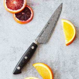 "Bob Kramer Stainless Damascus Prep Knife by Zwilling J.A. Henckels, 5.5"""