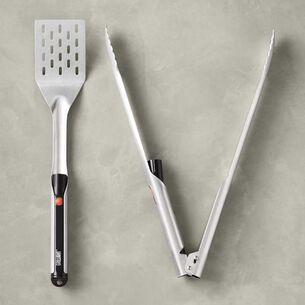Grillight 2-Piece Stainless Steel LED Spatula & Tong Set