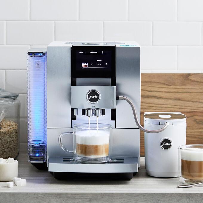JURA Z10 Automatic Coffee Machine, Aluminum White