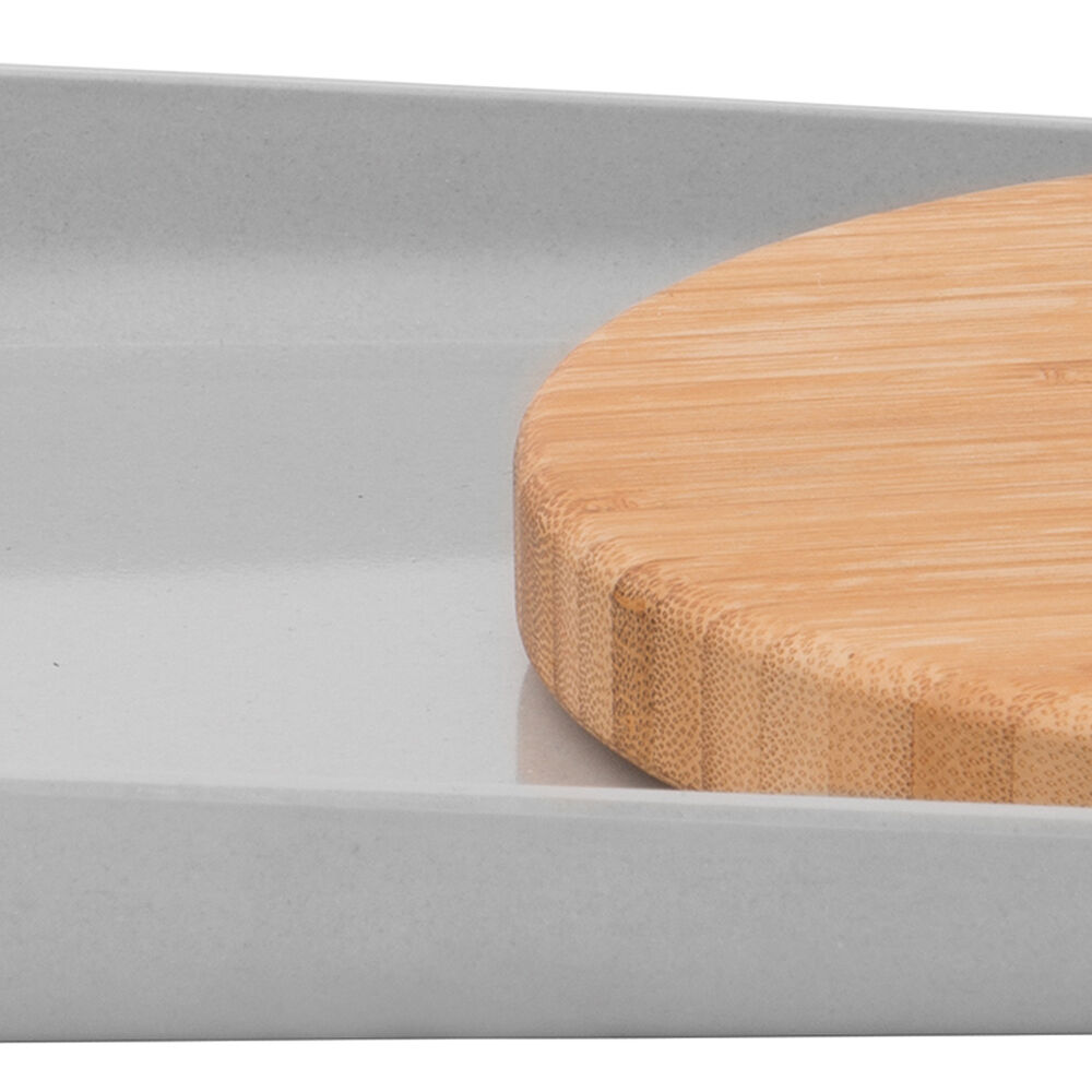 BergHOFF Bamboo Plate With Cutting Board, Gray, 13.5""