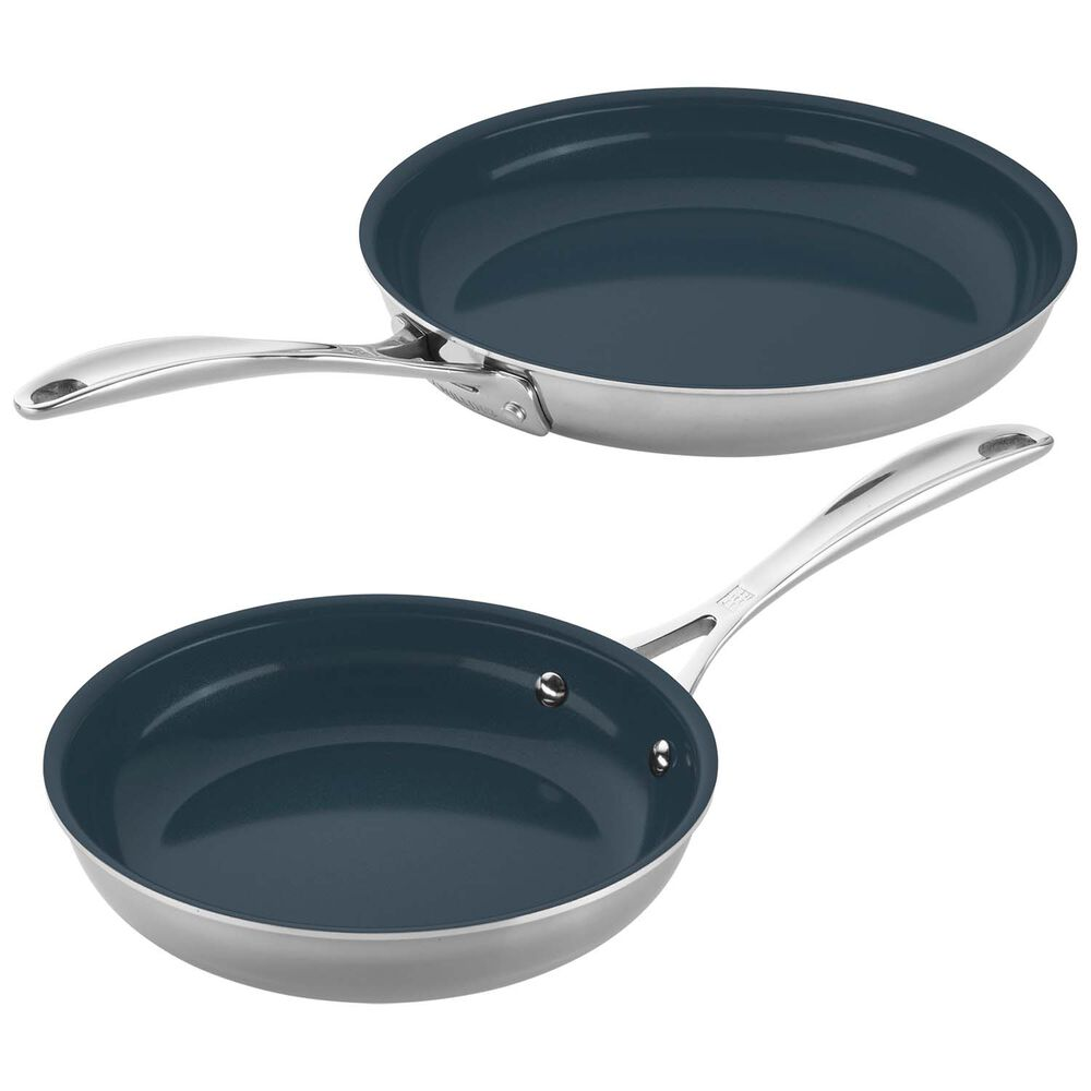 Zwilling Clad CFX Nonstick Skillets, Set of 2