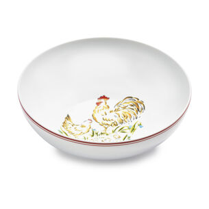 Farmhouse Rooster Serving Bowl