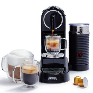 Nespresso CitiZ by De'Longhi Espresso Machine with Aeroccino3 Frother, Black