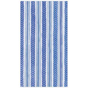 Carmen Stripe Blue Guest Napkins, Set of 15