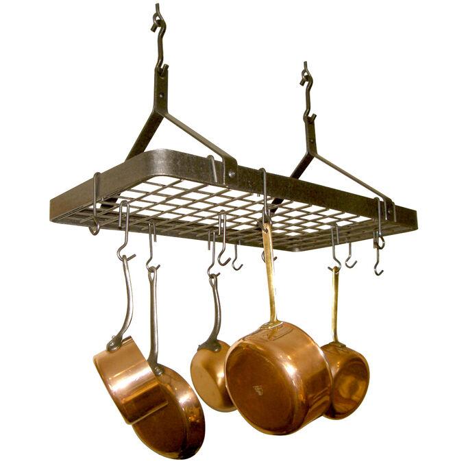 Enclume Hammered-Steel Rectangle Pot Rack
