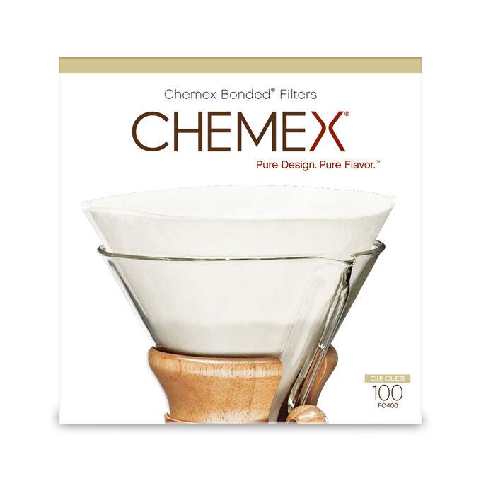 Chemex Pre-Folded Coffee Filters, Set of 100