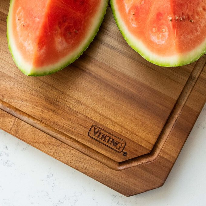 Viking Acacia Wood Cutting Board with Juice Groove