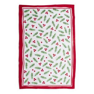 """Holly Flour Sack Kitchen Towel, 30"""" x 20"""""""