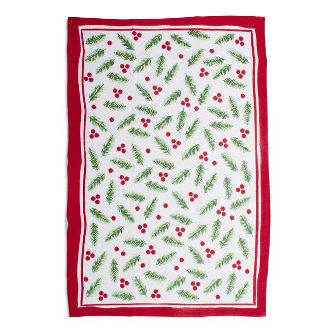"Holly Flour Sack Kitchen Towel, 30"" x 20"""