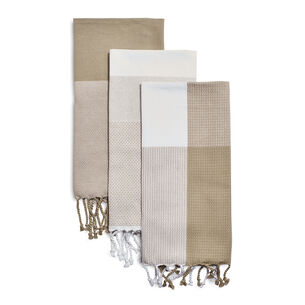 "Assorted Tassel Towels, 28"" x 20"", Set of 3"