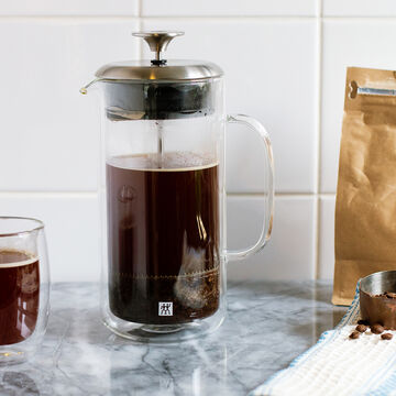 Zwilling J.A. Henckels Sorrento Plus Double-Wall French Press, 27 oz.