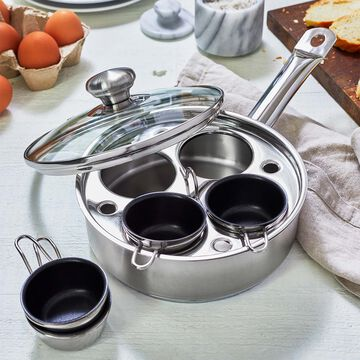 Demeyere Stainless Egg Poaching Pan, 4 cup