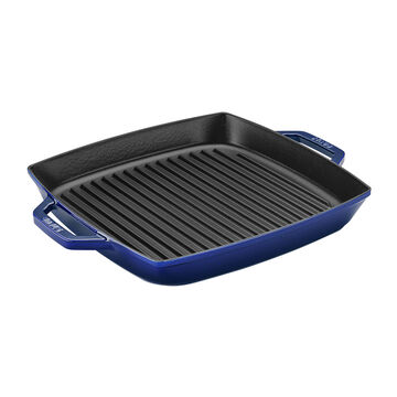 """Staub Double Handled Square Grill Pan, 13"""""""
