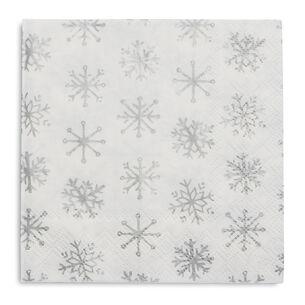 Snowflake Paper Cocktail Napkins, Set of 20