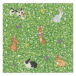Bunny Boxwood Lunch Napkins, Set of 20