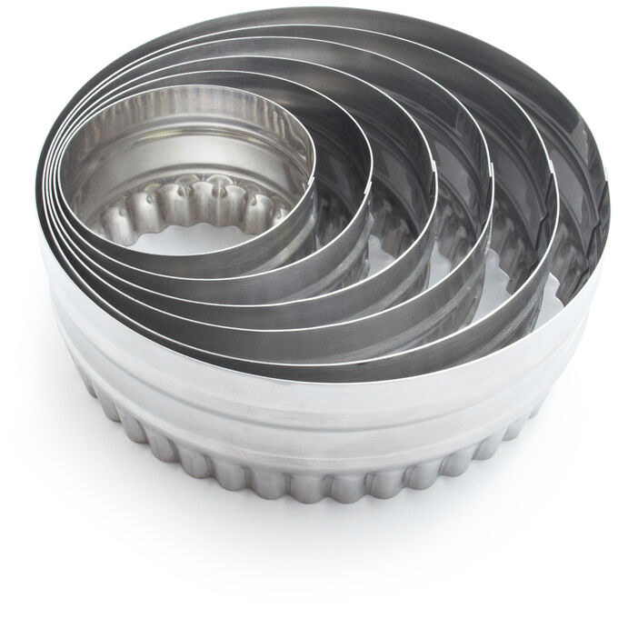 Stainless-Steel Reversible Biscuit Cutters, Set of 6