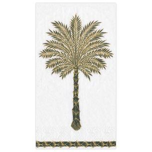 Grand Palms Black Guest Napkins, Set of 15