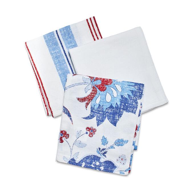 Pique-Nique Floursack Towels, Set of 3