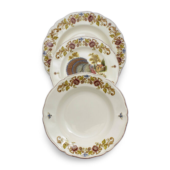 Italian Turkey 12-Piece Dinnerware Set