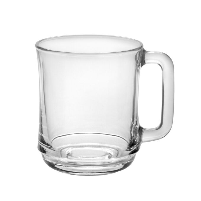 Duralex Empilable 10.87 oz. Clear Mugs, Set of 4