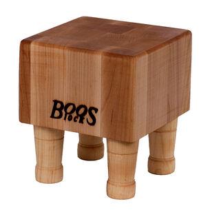 """John Boos & Co. Maple End-Grain Chopping Block with Feet, 6"""" x 6"""" x 4"""""""