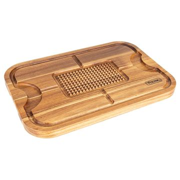 Viking XL Acacia Carving Board with 3-Piece Carving Set