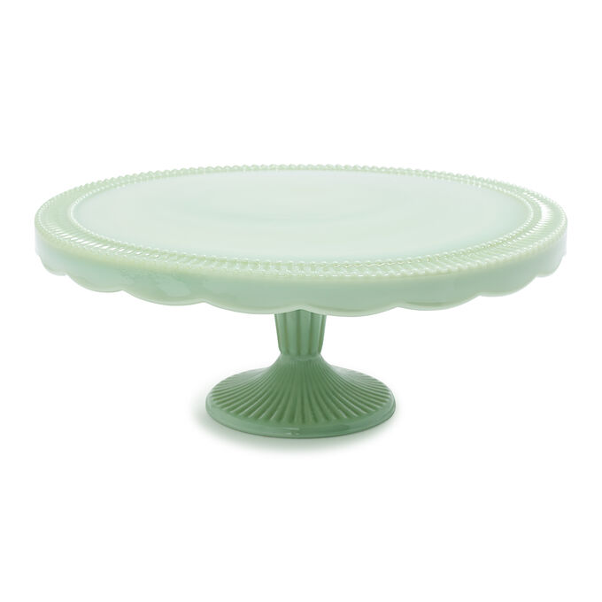 Jadeite Scalloped Cake Stand