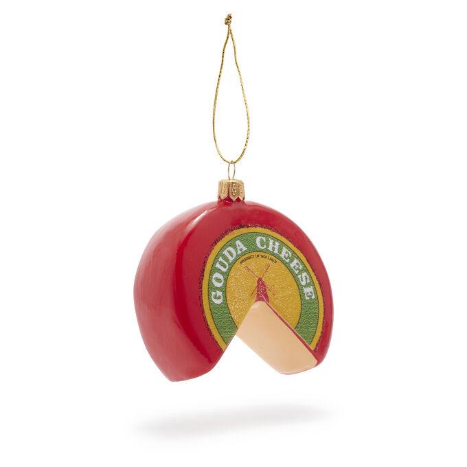 Gouda Cheese Glass Ornament