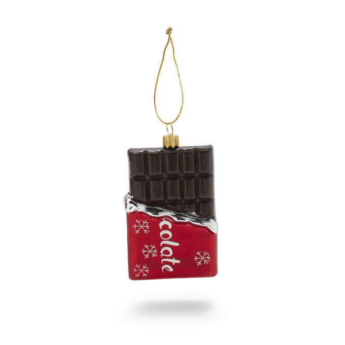 Chocolate Bar Glass Ornament