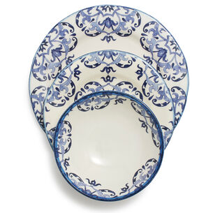 Blue Tile 12-Piece Dinnerware Set