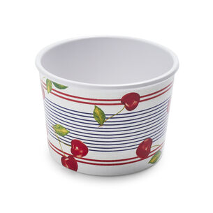 Cherry Melamine Ice Cream Bowl