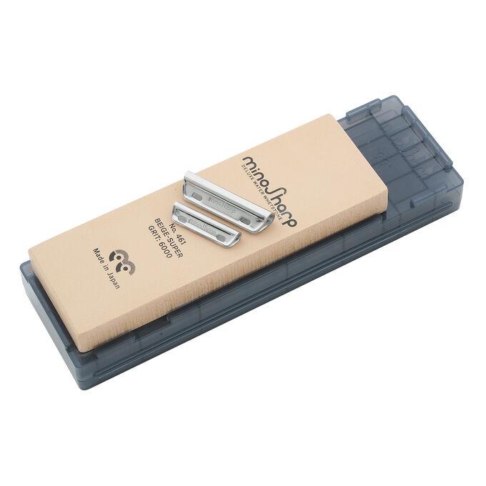 Global Minosharp Superfine Stone Sharpening Kit, 6000 Grit